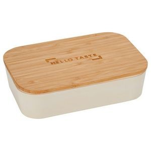 Bamboo Fiber Lunch Box with Cutting Board Lid