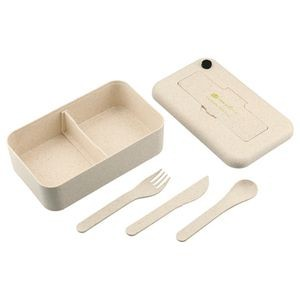 Bamboo Fiber Lunch Box with Utensil Pocket